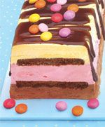 Ice Cream Cake Recipe from Usborne's Party Cakes to Bake and Decorate http://usborneonline.ca/catalogue/browse.asp?org=108319&css=1&cat=1&subject=C&subcat=CCB&id=7305