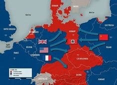 Allied forces conquer the German Reich in April '45 - - - Repost from @coolmapseveryday - - #maps #map #statistics #statistic #info #information #country #countries #geography #interesting #amazing #follow #europe #war #ww2 #hitler #nazi #germany #france #usa #uk #russia #ussr #austria #nazis #worldwar #german #empire #battle #hell  via ✨ @padgram ✨(http://dl.padgram.com)