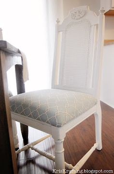 tutorial for old chairs - kitchen nook? this is more in my budget than a new set