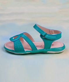 This Turquoise Party Sandal by Jelly the Pug is perfect! #zulilyfinds