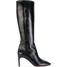 David Beauciel Dora mid calf length boots (3.457.715 COP) ❤ liked on Polyvore featuring shoes, boots, black, black mid calf boots, mid calf leather boots, mid calf length boots, mid calf boots and black calf length boots