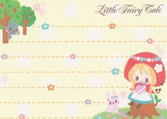 "https://flic.kr/p/rFSm21 | Q-lia ""Little Fairy Tale"" Mini Memo (Red Riding Hood) | 9 cm x 6.5 cm 90 sheets (2 designs) cover is a sticker 2014"