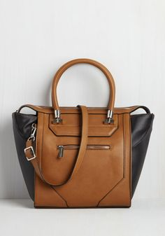 Cabaret Crawl Bag in Chestnut. After slipping this silver-detailed bag over your shoulder, you embark on an adventurous evening of scoping out the citys best speakeasies! #brown #modcloth
