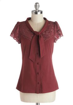 Everything's Beautiful Top in Crimson. Cute and I love the color but I don't like the neck line (fold over?) and the thick material makes me feel bulky.