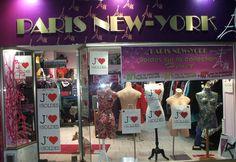 vitrine SOLDE 2015 PARIS NEW YORK boutique de prêt à porter et lingerie du 44 au 66  à SAINT-LO dans la manche