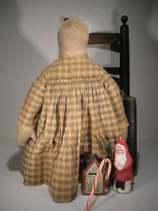Antique Vintage Folk Art Cloth Doll