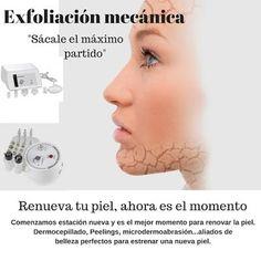 Exfoliación de la piel, sistemas de tratamiento.