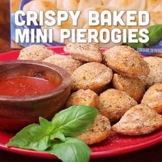 Oven-Toasted Mini Pierogies