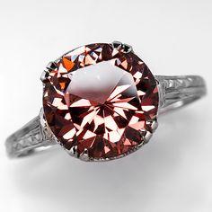 vintage tourmaline engagement ring