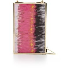 BCBGMAXAZRIA Deven Lucite Box Clutch ($125) ❤ liked on Polyvore featuring bags, handbags, clutches, purses, pink, acrylic box clutch, handbags purses, pink handbags, tote handbags and purse tote