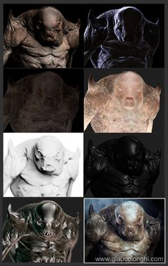 Glauco Longhi`s Thread - Traditional and digital creatures / studies - Page 2 Zbrush Tutorial, 3d Tutorial, Texture Drawing, 3d Texture, Zbrush Render, Zbrush Character, Sculpting Tutorials, Anime Monsters, Prop Design