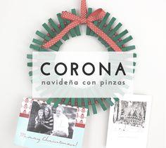 Decora en Navidad con una corona DIY hecha con pinzas