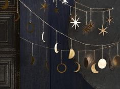 Phases of the Moon Garland Bring the energies of the cycling Moon into your home as a reminder that everything is a phase and you're moving through them just fine. It's Just a Phase. -The Moon The garland is 75