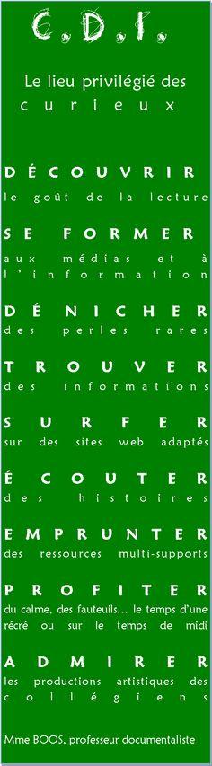 Une infographie réalisée par la documentaliste du CDI La Sallette