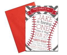 Baseball Party Invitation with Envelopes Printed Birthday invite. Click through to find matching games, favors, thank you cards, inserts, decor, and more. Or shop our 1000+ designs for all of life's journeys. Weddings, birthdays, new babies, anniversaries, and more. Only at Aesthetic Journeys