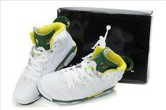 new concept ba972 0d04a Nike Air Jordan Mens Nike Air Jordan Mens Air Jordan 6 2012 Ny Air Jordan 6  VI Retro Mens Skor Vit Gul Gron 02