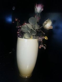 Vintage Yellow Glass Vase