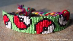 Pokemon pokeball friendship bracelet pattern number #7799 - For more patterns and tutorials visit our web or the app!