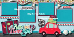 ARE-WE-THERE-YET-travel-vacation-2-premade-scrapbook-pages-paper-BY-DIGISCRAP
