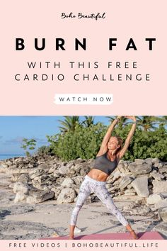 Welcome to our 7 Day Cardio Challenge! In the next 7 days your goal will be to push and challenge your strength, stamina. and patience like never before. Remember, you. Pilates Reformer, Pilates Workout, Yoga Workouts, Fat Workout, Workout Tanks, Workout Gear, Health And Fitness Tips, Fitness Goals, Fitness Wear