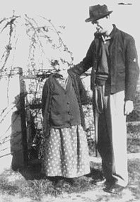 Virgil Earp's widow Allie in her 90's with author Frank Waters. She lived until 1947. She collaborated on a book with Waters that depicted her brother-in-law Wyatt Earp in a less than flattering light.