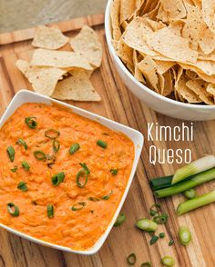 But this is kimchi queso… and it's EVERY. DAMN. THANG!