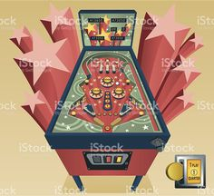 pinball illustration images and royalty free stock photos on SpiderPic, a price comparison search engine for royalty free stock photos. Pinball Wizard, Flipper, Arcade Machine, Free Illustrations, Free Vector Art, Game Art, Vintage, Retro, Mother Care