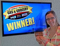 Kacie Pillar won $100 in The Great Gas & Grocery Giveaway from KXLY4, Divine's & Yokes.