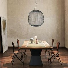 REUTER Shop recommends: Foscarini Spokes 2 Large LED pendant light ✓ with Best Price Guarantee. Interior, Dining Chandelier, Led, Foscarini, House Interior, Light Decorations, Pendant Light, Light, Minimalist Home Interior