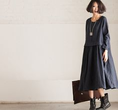 Rund+NecK+Loose+Fitting+Long+Maxi+Dress++Dress+in+by+deboy2000,+$82.00