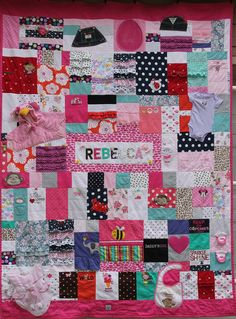 QuiltKeepsake.com - Recycled Baby Clothes - Twin Size