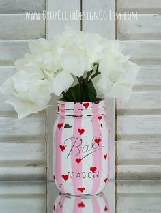 Hey, I found this really awesome Etsy listing at http://www.etsy.com/listing/178432659/valentines-day-mason-jar-pink-and-white