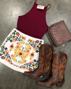 preppy outfits plus size Country Girl Outfits, Cute Cowgirl Outfits, Cowboy Boot Outfits, Southern Outfits, Western Outfits, Western Wear, Western Style, Cow Girl Outfits, Country Dresses