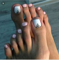 We have found the Best Toe Nail Art! Below you will find 53 Best Toe Nail Art Designs for Keeping your toes polished is a must, especially during the warmer seasons because you are likely wearing open toed shoes or flip flops. Being creative with yo Simple Toe Nails, Pretty Toe Nails, Summer Toe Nails, Cute Toe Nails, Pretty Toes, Summer Pedicures, Glitter Toe Nails, Cute Pedicures, Toe Nail Color