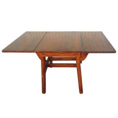 Signed Rittenhouse Furniture Rustic Drop-Leaf Dining Table   From a unique collection of antique and modern drop-leaf and pembroke tables at https://www.1stdibs.com/furniture/tables/drop-leaf-tables-pembroke-tables/