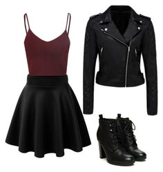 """""""leather vibes"""" by burntclothing ❤ liked on Polyvore"""