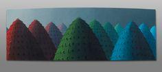 Kristian Krokfors: Andalucia, 2000, öljy kankaalle,kiinnitetty taivutetulle levylle, 40x117 cm - Bukowskis F179