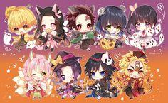 HD wallpaper: Anime, Demon Slayer: Kimetsu no Yaiba, Giyuu Tomioka, Inosuke Hashibira Chibi, Anime Demon, Demon Hunter, Slayer Anime, Kawaii, Demon, Art, Anime Halloween, Fan Art