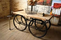 Recycled Wood & Iron Cart