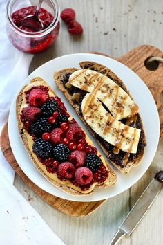 Nutella, Think Food, Food Goals, Healthy Breakfast Recipes, Breakfast Ideas, Healthy Meals, Dinner Healthy, Breakfast Pictures, Breakfast Toast