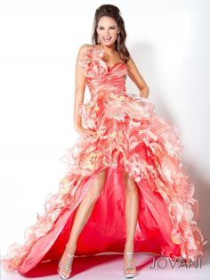 #Jovani 5059 Coral prom dress,  high low prom dress, #InternationalProm #Prom #Promdress #Prom360