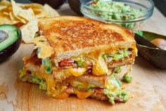 Bacon-Guacamole Grilled Cheese Sandwich.  I made this and it was wonderful!