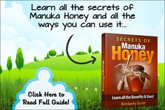 The secrets, benefits & ALL the uses of Manuka Honey. Learn the secrets to boost the immune system, stay healthy and survive. Manuka Honey Benefits and Uses by Kimberly Scott teaches you what Manuka Honey … Manuka Honey Uses, Manuka Honey Benefits, Heal Sore Throat, Kimberly Scott, Best Face Mask, Face Masks, Sinus Relief, Natural Antibiotics