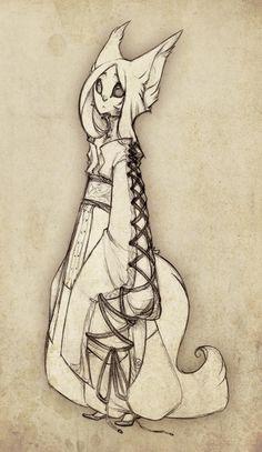 Silver Fox Sketch by RedBeanViolin on DeviantArt