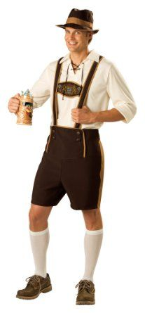 Bavarian Guy Costume with Pullover Shirt