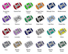 braces colors pictures - Google Search