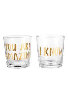 Drinkglas met print