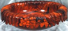 1084 Carved Cocobolo Bowl-B-s