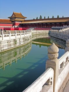 One of my favorite scenes. A portion of the 5 marble bridges, Forbidden City, Beijing, China China Architecture, Ancient Chinese Architecture, Last Emperor Of China, Places To Travel, Places To See, Places Around The World, Around The Worlds, Temple Of Heaven, Visit China