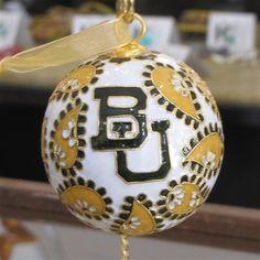#Baylor Paisley Round Cloisonne Ornament